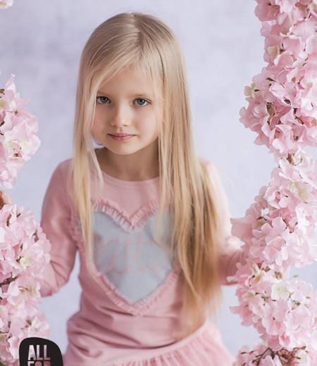 sukienka all for kids róż serduszko 1