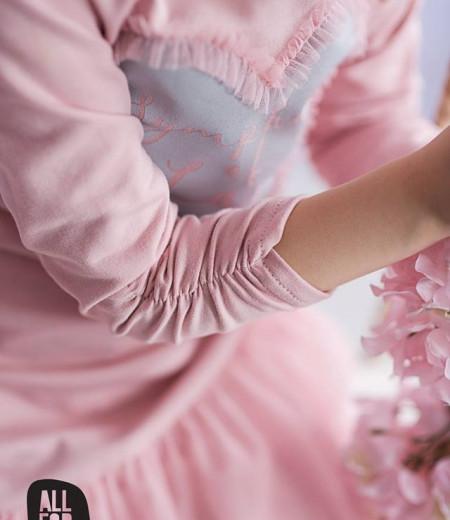 sukienka all for kids róż serduszko 3