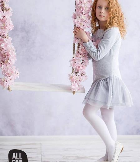 sukienka szara serduszko all for kids 2