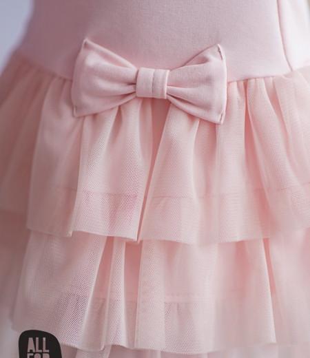 sukienka róż falbanki all for kids 1