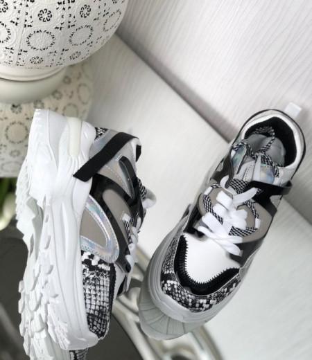 Białe buty na grubej podeszwie 1