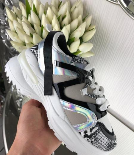 Białe buty na grubej podeszwie 2
