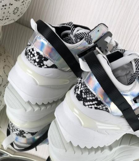 Białe buty na grubej podeszwie 3