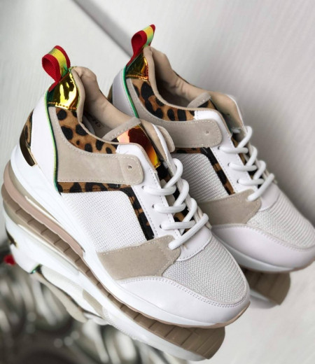 Sneakersy z transparentną wstawką w podeszwie