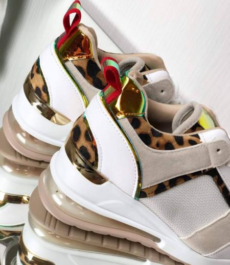 Sneakersy z transparentną wstawką w podeszwie 2