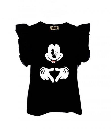 Czarny T-shirt Mickey Mouse MIA MOU 1