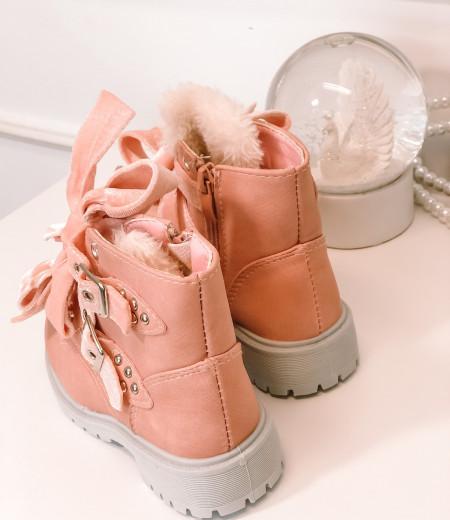 botki VELVET pink 1