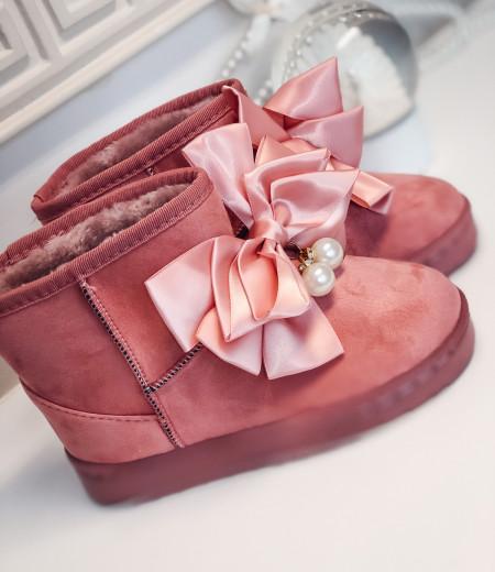 śniegowce PEARLS pink 1