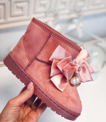 śniegowce PEARLS pink 3