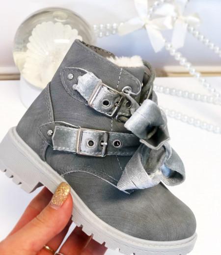botki VELVET gray