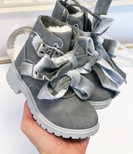 botki VELVET gray 1