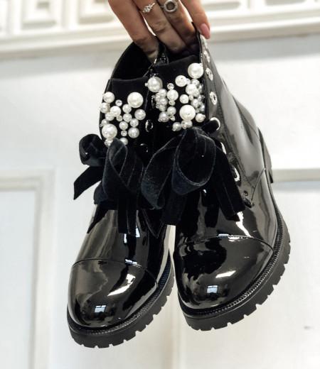 botki PEARLS black