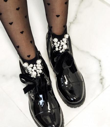 botki PEARLS black 2