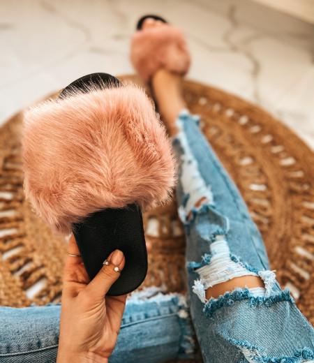 klapki FUR pink 1