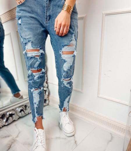 jeansy boyfriend z przetarciami CLEO