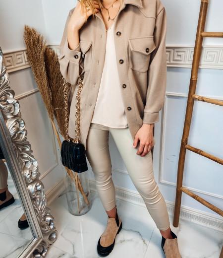 płaszczyk, koszula, jacket BROWN 2