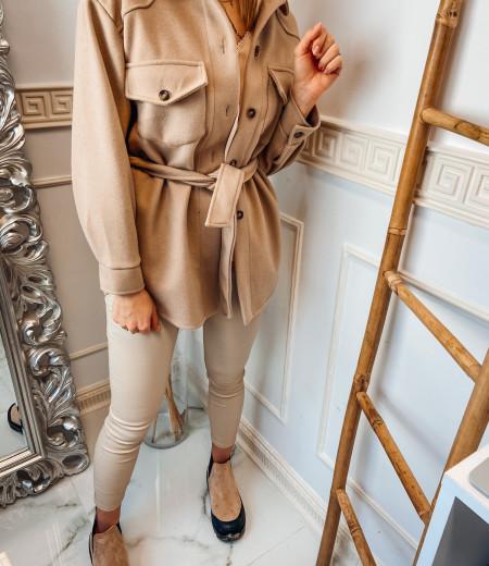 płaszczyk, koszula, jacket BROWN 3