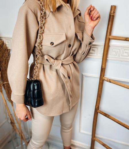 płaszczyk, koszula, jacket BROWN 4