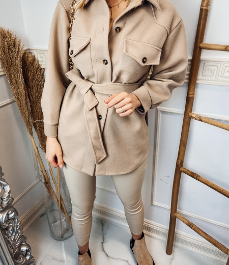 płaszczyk, koszula, jacket BROWN 5