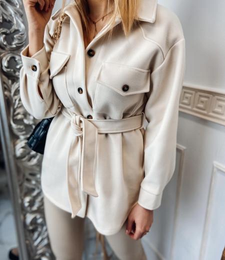płaszczyk, koszula, jacket ECRU