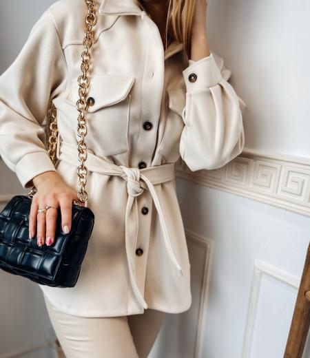 płaszczyk, koszula, jacket ECRU 1