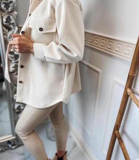 płaszczyk, koszula, jacket ECRU 2