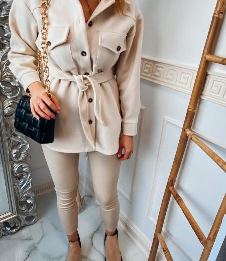 płaszczyk, koszula, jacket ECRU 3
