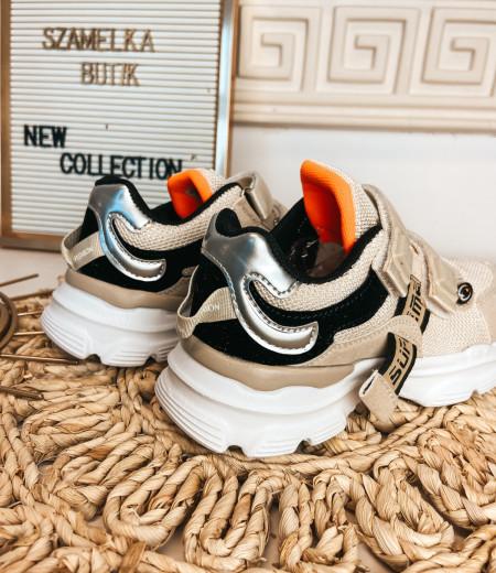 sneakersy ARIEL BEIGE 1
