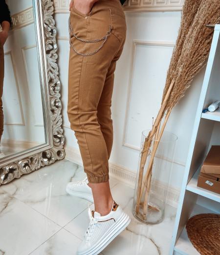 spodnie z łańcuchem BROWNIE