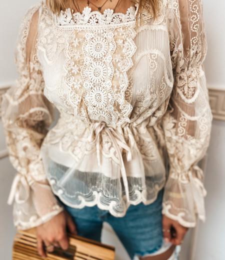 bluzka LAURA boho beige