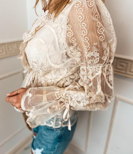 bluzka LAURA boho beige 2