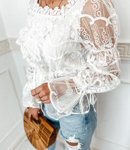 bluzka LAURA boho white