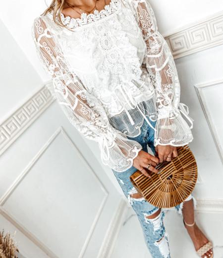 bluzka LAURA boho white 1