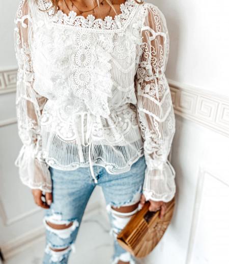 bluzka LAURA boho white 2