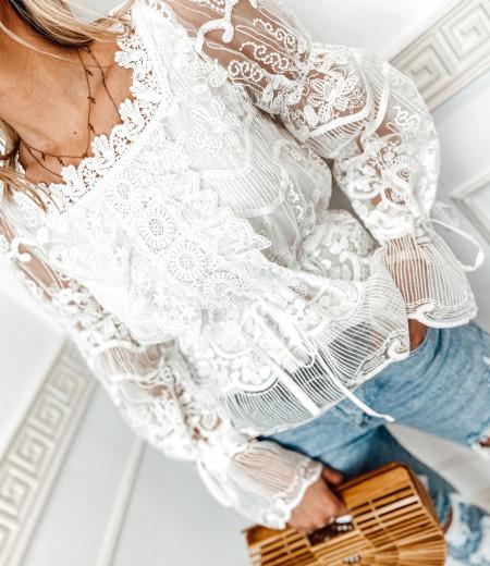 bluzka LAURA boho white 3