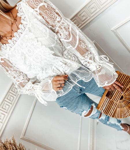 bluzka LAURA boho white 5