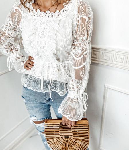 bluzka LAURA boho white 6
