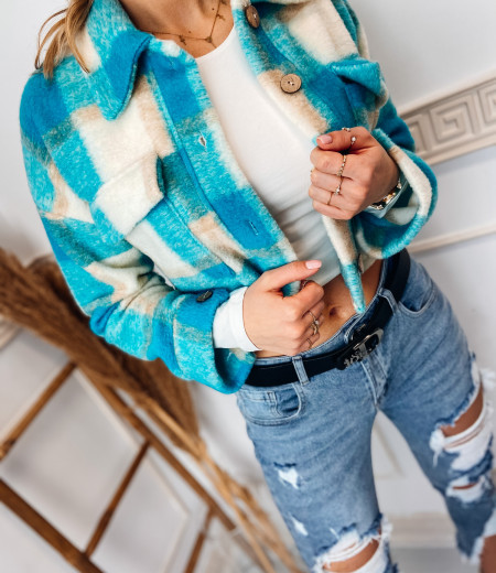 koszula NELA short blue 1