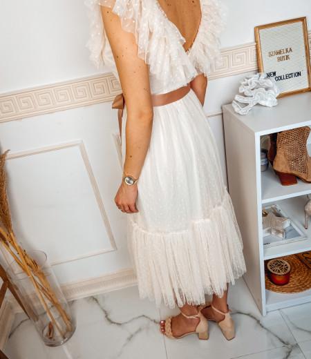 sukienka MARIA long ecru 2