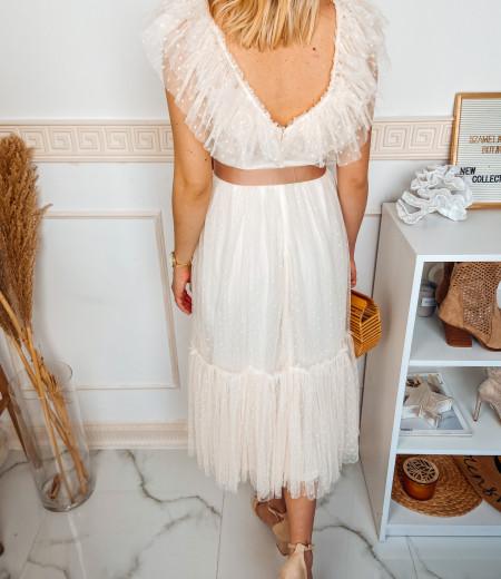 sukienka MARIA long ecru 4