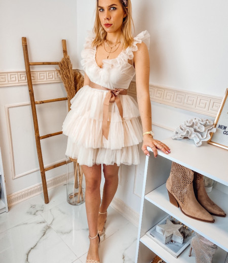 sukienka SARA short ecru