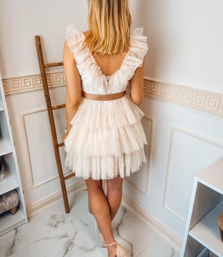 sukienka SARA short ecru 1