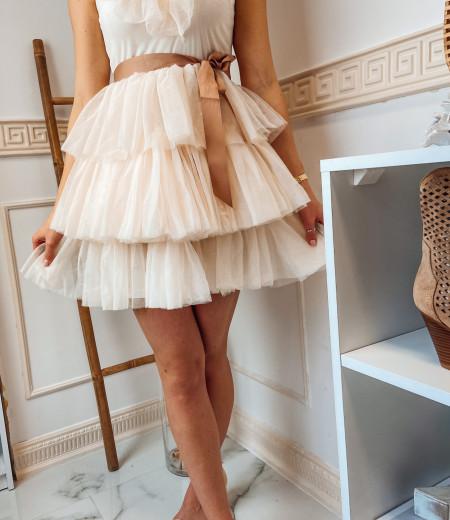 sukienka SARA short ecru 3