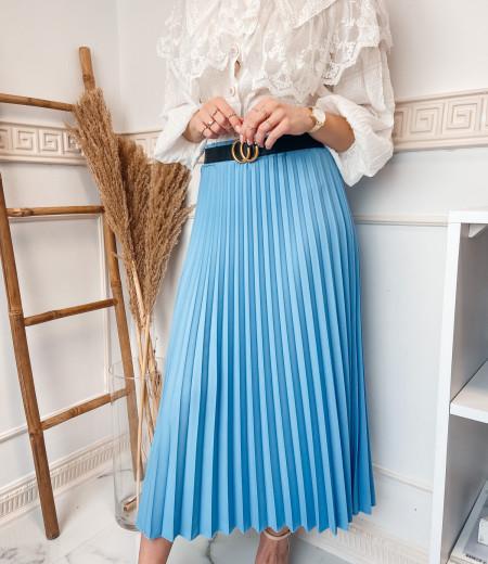 spódnica plisowana LISA blue 1