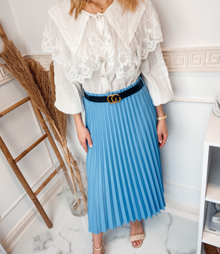 spódnica plisowana LISA blue 3
