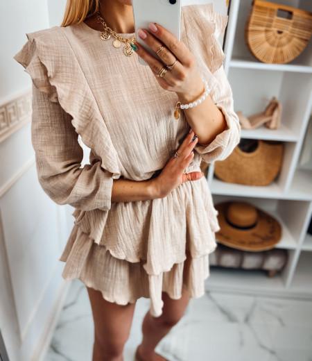 Sukienka muślinowa MATYLDA beige