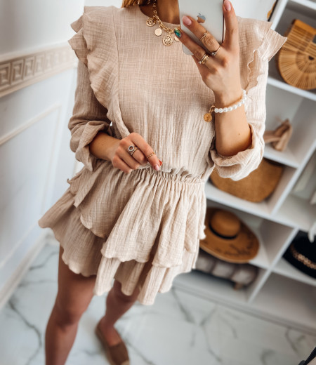 Sukienka muślinowa MATYLDA beige 1