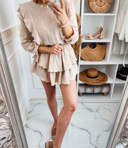 Sukienka muślinowa MATYLDA beige 2