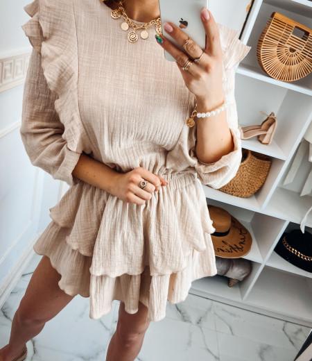 Sukienka muślinowa MATYLDA beige 3