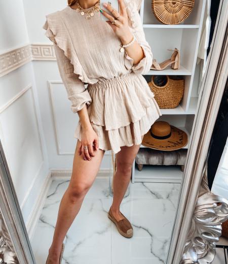 Sukienka muślinowa MATYLDA beige 4